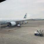 キャセイパシフィックCX467便で台北から香港へ